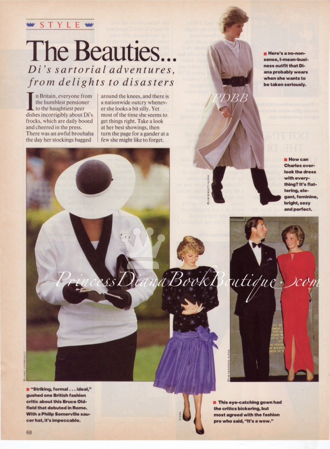 THE BEAUTIES~ Our Princess Diana Fashion Article For 11