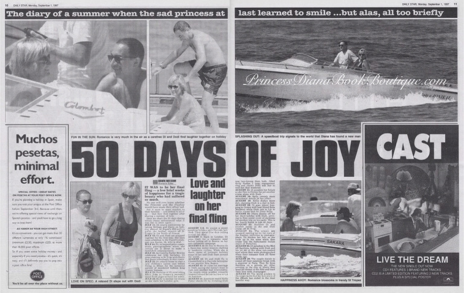 50 DAYS OF JOY: DIARY OF THE LAST SUMMER: Our Princess Diana news article  is from August 1997