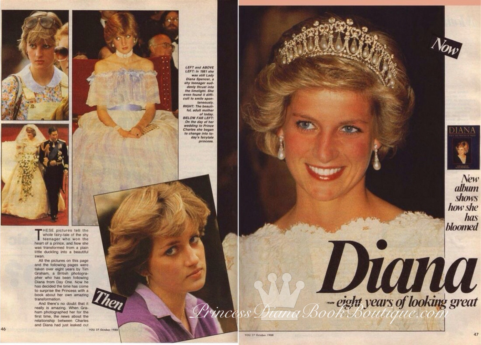 24 January 1984 Princess Diana Attends The Unveiling Of Her New Portrait By June Mendoza