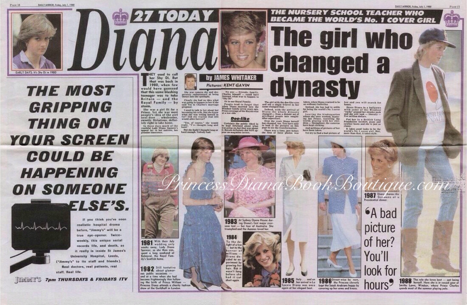 The Girl Who Changed A Dynasty Our Princess Diana News Article Today Is From 1988