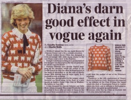 Diana's Royal Fashion: Her Sheep Sweater – We have a newone!